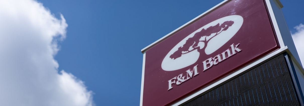 F&M Bank sign