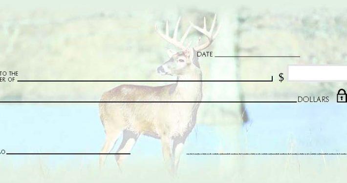 wildlife deer style wallet check
