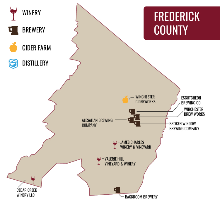 Frederick County Map