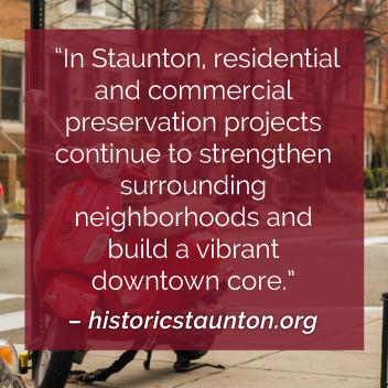 Historic Preservation in Staunton VA