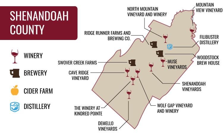 Shenandoah County Map