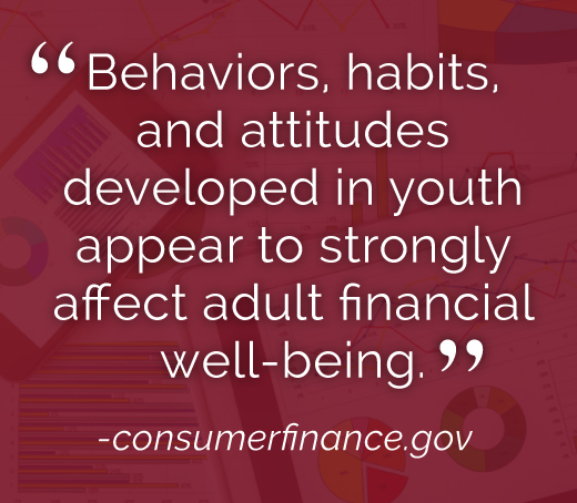 Behaviors, habits, and attitudes developed in youth appear to strongly affect adult financial well-being.