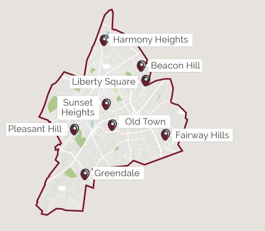 Map of Harrisonburg, Virginia