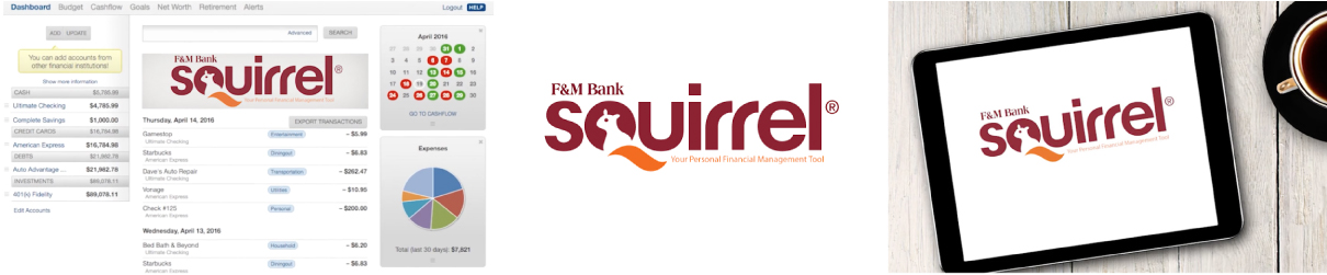 F&M Bank Squirrel App