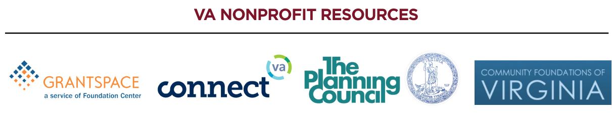 VA nonprofit resources