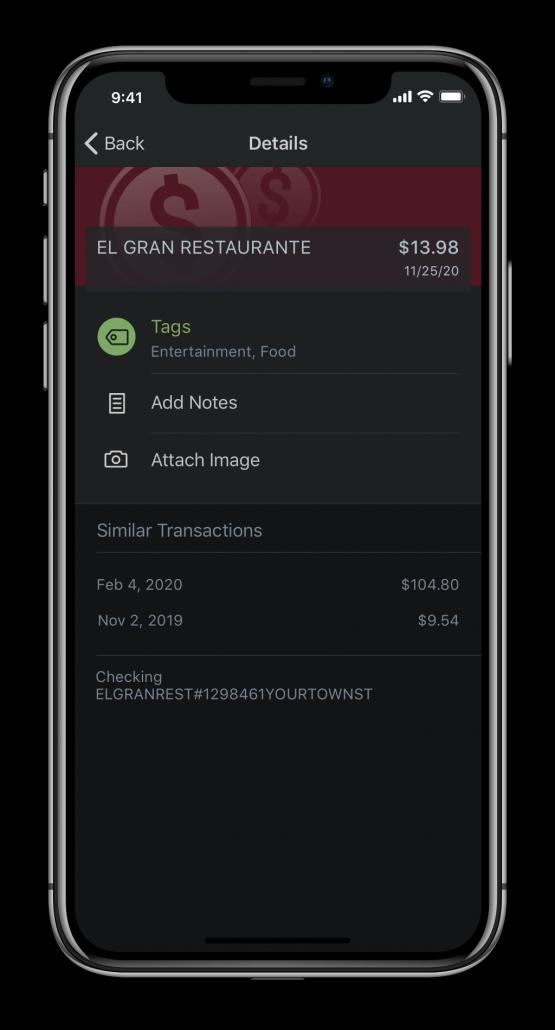 Mobile Transaction Detail